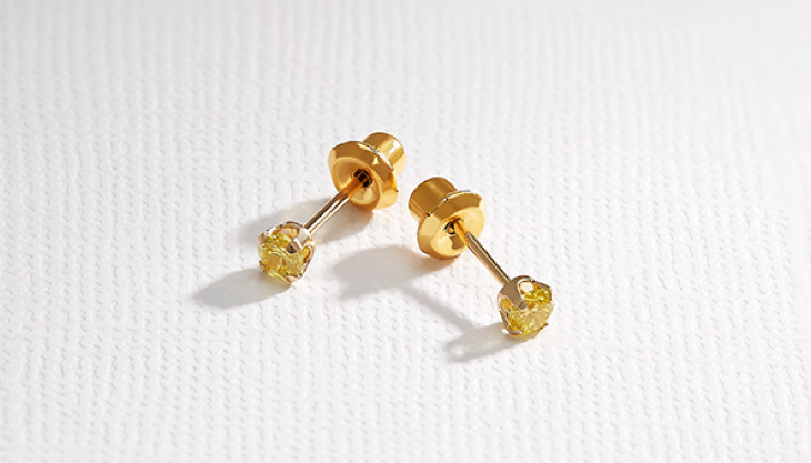 Inverness Gold Ear Piercing Earring